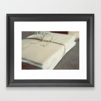 Letters To You Framed Art Print