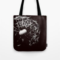 Dandelion Black & White Tote Bag