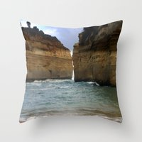 Two Giants On A Collisio… Throw Pillow