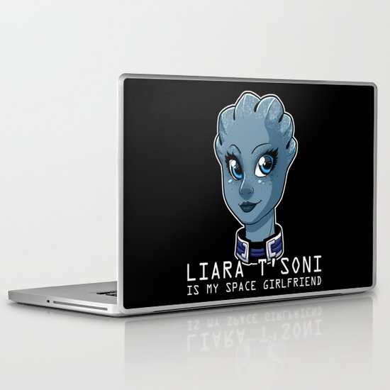 Liara Is My Space Girlfriend Laptop & iPad Skin