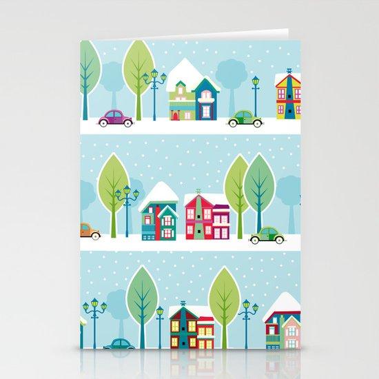 Ski house Stationery Card