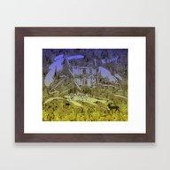 Little Chistmas Snow Fam… Framed Art Print