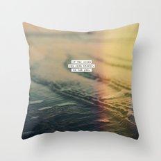 Calm Yourself Throw Pillow