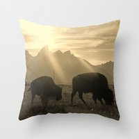 History on Hooves Throw Pillow