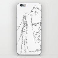 Ian Curtis WordsPortrait iPhone & iPod Skin