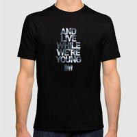 Live While We're Young - 1D Mens Fitted Tee Black SMALL