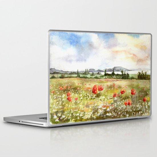 Poppies at the Lake Balaton Laptop & iPad Skin