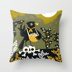 Berry Picker Throw Pillow