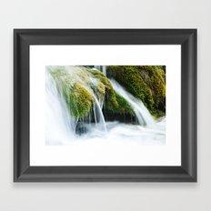 Plitvice Waterfalls Framed Art Print