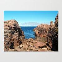 Pink Granite 2 Canvas Print