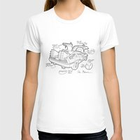 Time Machine Blueprint Womens Fitted Tee White SMALL