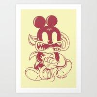 Junkie Mouse Art Print
