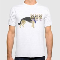 That three headed dog Mens Fitted Tee Ash Grey SMALL