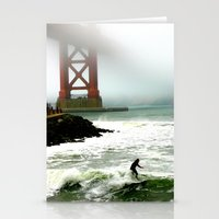 Surfing SF Bay Stationery Cards