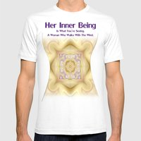 Her Inner Being Mens Fitted Tee White SMALL