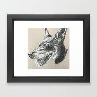 Min Pin Framed Art Print