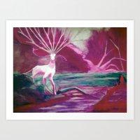 Forest Saint Color Versi… Art Print