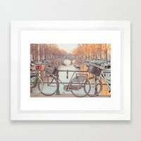 Canal Bicycles Framed Art Print