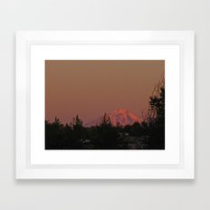 Alpenglow Framed Art Print