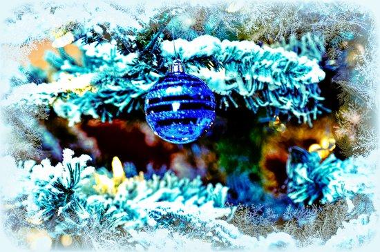 Blue Christmas Art Print