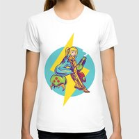Femme Fatale Hunter  Womens Fitted Tee White SMALL