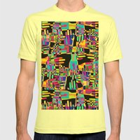 Colorful Hands Mens Fitted Tee Lemon SMALL