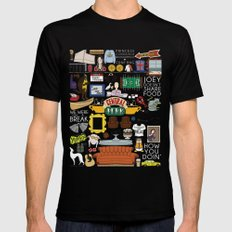 Collage Mens Fitted Tee Black SMALL