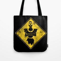 Dragon's Lair Warning Sign Tote Bag