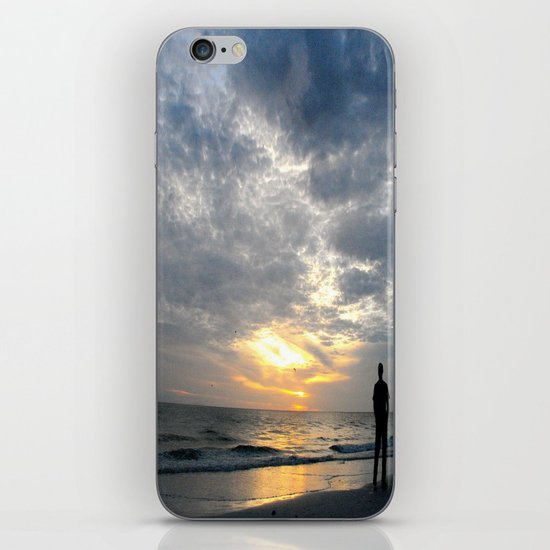 Walk into the sunset.. iPhone & iPod Skin
