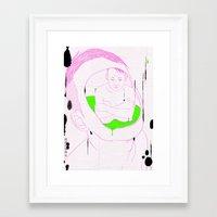 In The Deepest Puddle/深深之深渊 Framed Art Print