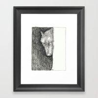 Le Loup Original Framed Art Print