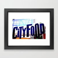 City Food Framed Art Print