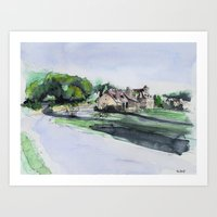 French village Art Print