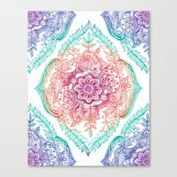Canvas Print featuring Indian Ink - Rainbow version by micklyn