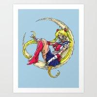 Zombie Moon Art Print