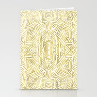 Radiate - Gold Stationery Cards