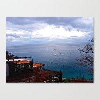 Positano: Amalfi Coast, … Canvas Print