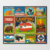 Camping Crests Canvas Print