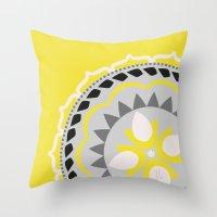Yellow Sunshine Throw Pillow
