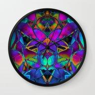 Floral Fractal Art G308 Wall Clock
