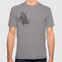 Sparrow tattoo Mens Fitted Tee Athletic Grey SMALL