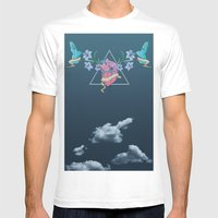Heart In The Sky Mens Fitted Tee White SMALL