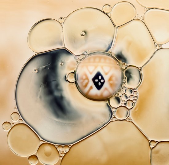 oil and water abstract Art Print