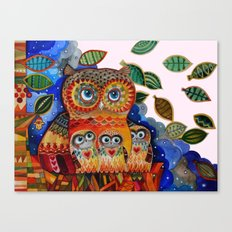 Wind - Owls Canvas Print