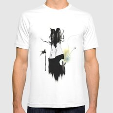 THE SHOES White Mens Fitted Tee SMALL