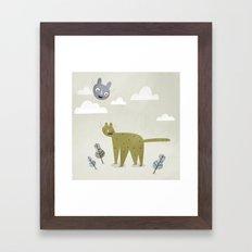 Cat in the Sky. Framed Art Print