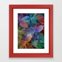 Colored Leaf Pattern 2 Framed Art Print
