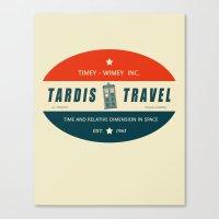 Tardis Travel - Fantasy … Canvas Print