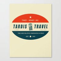 Tardis Travel - Fantasy Travel Logo Canvas Print