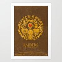 Raiders of the Lost Ark Poster Art Print